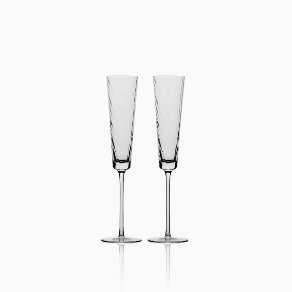 Levně Sklenice na šampaňské 130 ml set 2 ks - Gaya Glas Premium