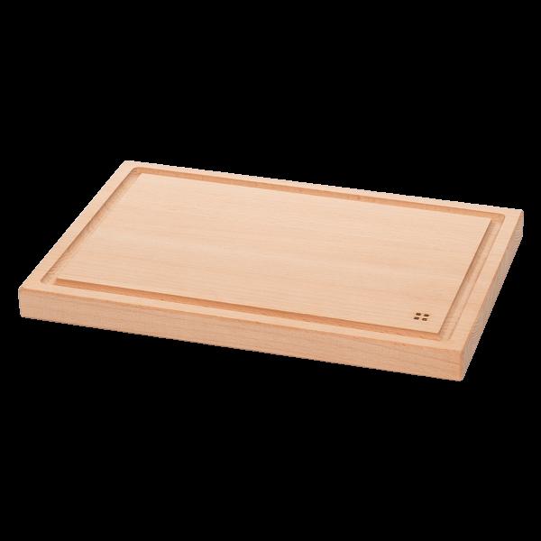 Levně Dřevěné prkénko se žlábkem 30 x 20 cm - Basic