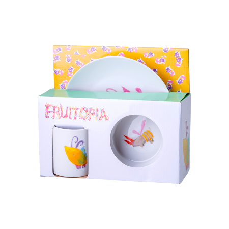Fruitopia dětský porcelánoý set 3 ks - Kids world