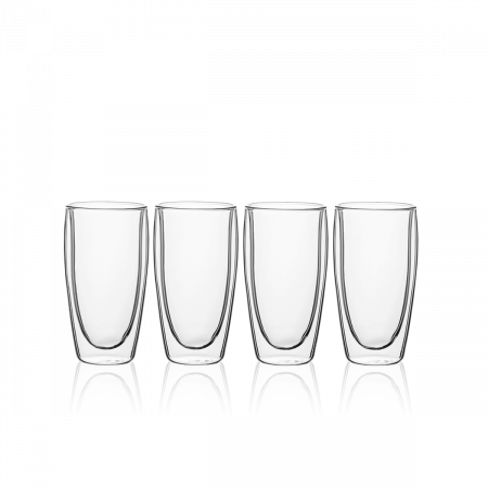 Pohár BASIC Glas Double Wall 330 ml - set 4 ks